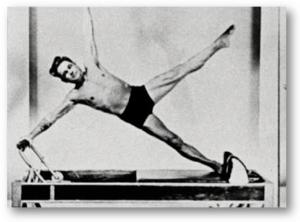 Joesph Pilates doing side plank
